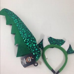 Other - Dragon costume play set headband w clip-on tail